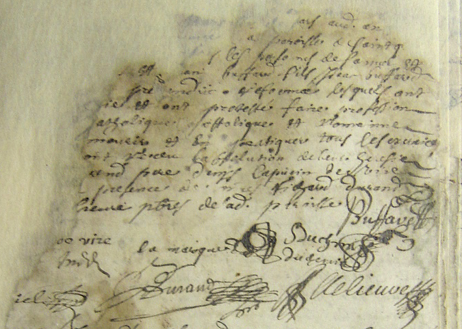 Abjuration of Samuel and Isaac Duchemin, 10 Mar 1686