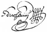 Samuel Duchemin Signature 1661